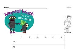 Mental Math Facts Challenge Worksheet