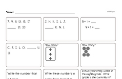 Math Facts Mixed Review Page