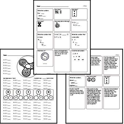 Math Minutes Workbook - 15 Minutes a Day!