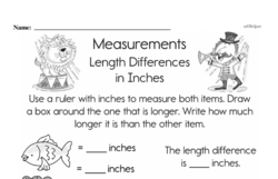 Second Grade Measurement Worksheets - Length Worksheet #22