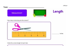 Second Grade Measurement Worksheets - Length Worksheet #25