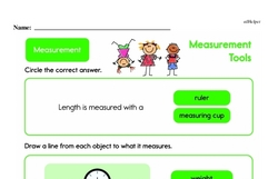 Second Grade Measurement Worksheets - Measurement Tools Worksheet #10