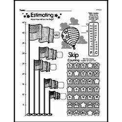 Measurement - Measurement Word Problems Mixed Math PDF Workbook for Second Graders