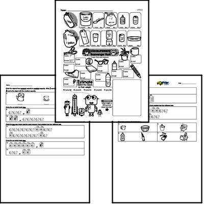 Measurement - Measurement and Capacity Workbook (all teacher worksheets - large PDF)