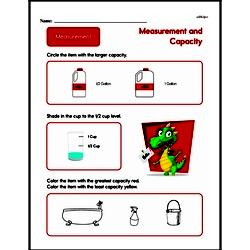 Second Grade Measurement Worksheets - Measurement and Capacity Worksheet #5