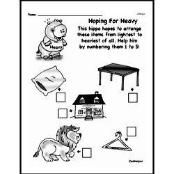 Second Grade Measurement Worksheets - Measurement and Comparisons Worksheet #10