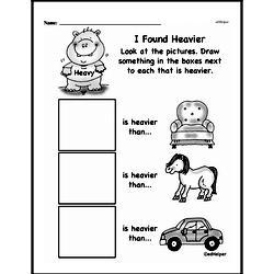 Second Grade Measurement Worksheets - Measurement and Comparisons Worksheet #6