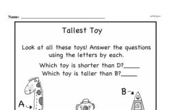 Second Grade Measurement Worksheets - Measurement and Comparisons Worksheet #18