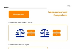 Second Grade Measurement Worksheets - Measurement and Comparisons Worksheet #28