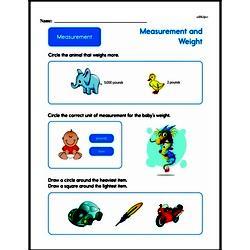 Second Grade Measurement Worksheets - Measurement and Weight Worksheet #9