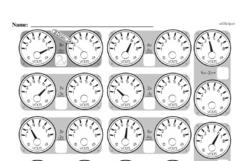 Free Second Grade Measurement PDF Worksheets Worksheet #41