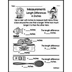 Free Second Grade Measurement PDF Worksheets Worksheet #2