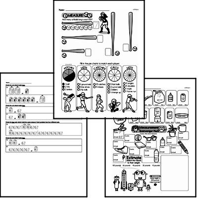 Measurement Mixed Math PDF Workbook for Second Graders