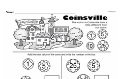 Free Second Grade Money Math PDF Worksheets Worksheet #32