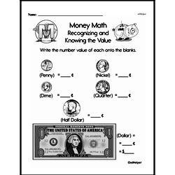Money Worksheets - Free Printable Math PDFs Worksheet #89