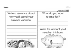 Free Second Grade Money Math PDF Worksheets Worksheet #46