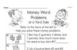 Money Worksheets - Free Printable Math PDFs Worksheet #8