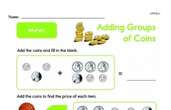 Money Worksheets - Free Printable Math PDFs Worksheet #19