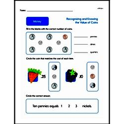 Money Worksheets - Free Printable Math PDFs Worksheet #77