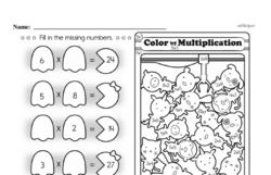 Free Second Grade Multiplication PDF Worksheets Worksheet #5