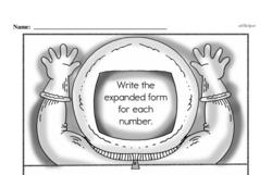 Free Second Grade Number Sense PDF Worksheets Worksheet #4