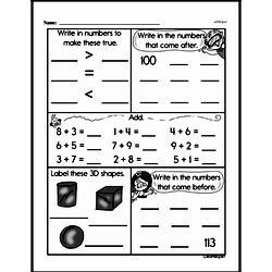 Free Second Grade Number Sense PDF Worksheets Worksheet #17