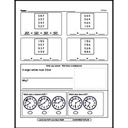 Free Second Grade Number Sense PDF Worksheets Worksheet #1