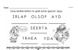 Free Second Grade Number Sense PDF Worksheets Worksheet #113