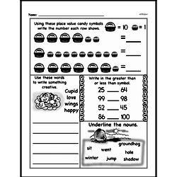 Free Second Grade Number Sense PDF Worksheets Worksheet #107