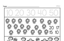 Free Second Grade Number Sense PDF Worksheets Worksheet #75