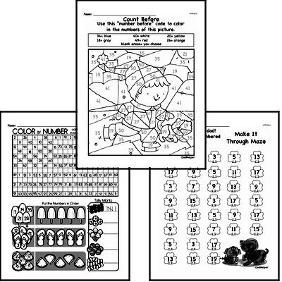 Number Sense - Two-Digit Numbers Mixed Math PDF Workbook for Second Graders