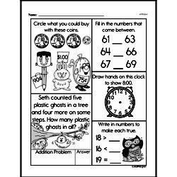 Free Second Grade Number Sense PDF Worksheets Worksheet #119