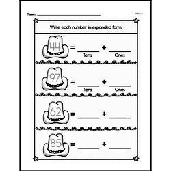 Free Second Grade Number Sense PDF Worksheets Worksheet #42