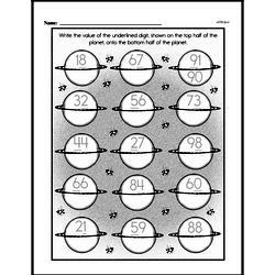Free Second Grade Number Sense PDF Worksheets Worksheet #54