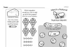 Free Second Grade Number Sense PDF Worksheets Worksheet #77