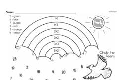 Free Second Grade Number Sense PDF Worksheets Worksheet #20