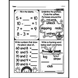 Second Grade Number Sense Worksheets Worksheet #105