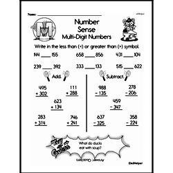 Second Grade Number Sense Worksheets Worksheet #2