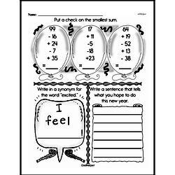 Second Grade Number Sense Worksheets Worksheet #129