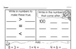 Second Grade Number Sense Worksheets Worksheet #151