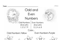 Second Grade Number Sense Worksheets Worksheet #1