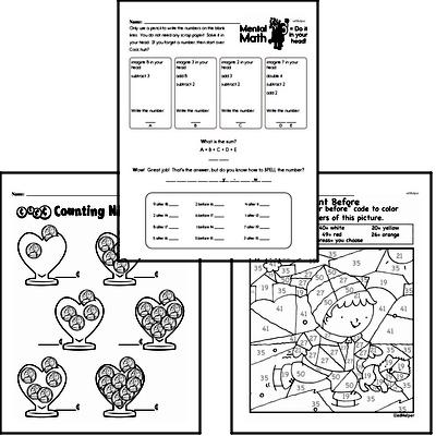 Number Sense Mixed Math PDF Workbook for Second Graders