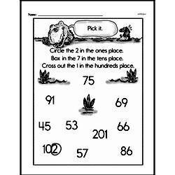 Second Grade Number Sense Worksheets Worksheet #76