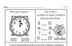 Second Grade Number Sense Worksheets Worksheet #110