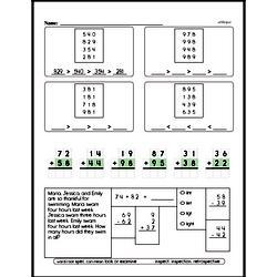 Second Grade Number Sense Worksheets Worksheet #141