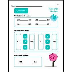 Second Grade Number Sense Worksheets Worksheet #7