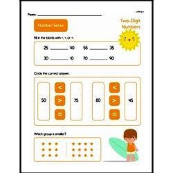 Second Grade Number Sense Worksheets Worksheet #8