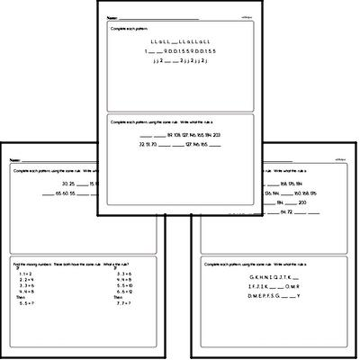 Pattern Math Problems Book