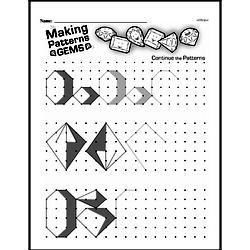 Pattern Worksheets - Free Printable Math PDFs Worksheet #82