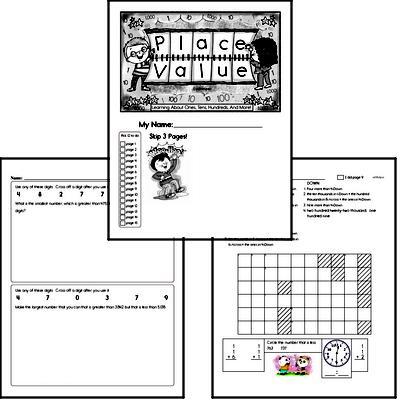 2nd Grade Place Value Challenge Workbook